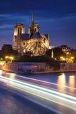 Notre Dame de Paris at sunset Stock Images