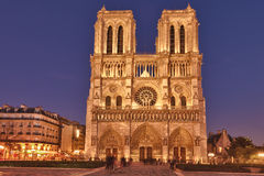Notre Dame de Paris at sunset, France Stock Photo