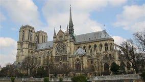 Notre Dame De Paris, także znać jako Notre Damae katedra, Paryż, Francja zbiory