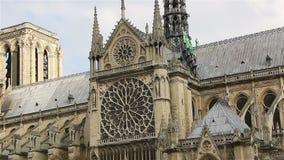 Notre Dame De Paris, także znać jako Notre Damae katedra, Paryż, Francja zdjęcie wideo