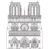 Notre Dame de Paris. Vector image of Notre Dame de Paris Stock Photos