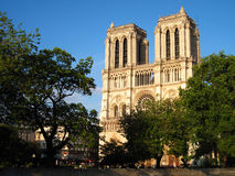 Notre Dame de Paris. Views of the Notre Dame church in Ile-de-la-Cite, Paris Stock Photos