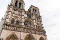 Notre Dame De Paris w Pary?, Francja zdjęcie royalty free