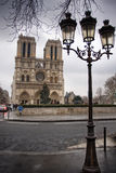 Notre dame de paris at winter time Royalty Free Stock Photography