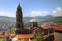 Notre Dame de Puy-en-Velay, Francia foto de archivo libre de regalías