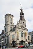 Notre-Dame de Quebec Basilika-domkyrka i gamla Quebec City Arkivfoto
