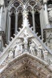 Notre-Dame de Reims domkyrka enkla modeller för illustrationer för garneringdesignelement france reims Royaltyfri Fotografi