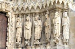 Notre-Dame de Reims domkyrka enkla modeller för illustrationer för garneringdesignelement france reims Fotografering för Bildbyråer