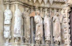 Notre-Dame de Reims katedra elementy projektu dekoracji ilustracji wzory prostych france Reims Zdjęcia Royalty Free
