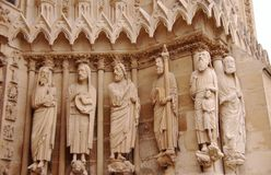 Notre Dame de Reims or Our Lady of Reims, Stock Photos