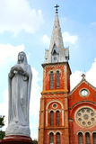 Notre Dame de Saigon stock image