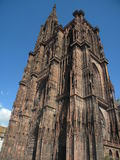 Notre-Dame de Strasbourg. Strasbourg Cathedral or the Cathedral of Our Lady of Strasbourg (French: Cathédrale Notre-Dame de Strasbourg, German: Liebfrauenmü Stock Photos