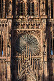 Notre dame de Strasbourg. Old cathedral as HDR image. Famous monument of France. One of the highest sacral building in the world Stock Photos