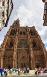 Notre-Dame De Strasburg panorama obrazy stock