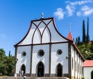 Notre Dame del l'Assomption church, Île des Pins Stock Images