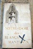 Notre-Dame des Blancs-Manteaux Stock Afbeelding