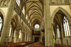 Notre Dame des Champs church in Avranches Stock Image