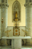 Notre Dame des Champs church in Avranches. Normandie, an altar in Notre Dame des Champs church in Avranches Stock Photography