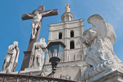 Notre Dame des Doms church at Avignon, France Royalty Free Stock Photos