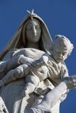 Notre Dame des Naufrages statue in Pointe du Raz Stock Images
