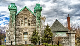 Notre Dame des Neiges Cemetery. Founded in 1854 , the Notre-Dame-des-Neiges cemetery of the parish of Notre-Dame in Montreal , is a cemetery of 343 acres (1.39 stock photography