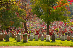 Notre-Dame-des-Neiges Cemetery, Montreal. Royalty Free Stock Photos