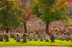 Notre-Dame-des-Neiges kyrkogård, Montreal Royaltyfria Foton