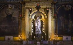 Notre Dame des victoires教会,巴黎,法国 免版税库存图片