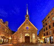Notre Dame des Victoires in Quebec City Royalty Free Stock Photo