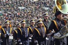 Notre Dame die Band marcheert Stock Fotografie
