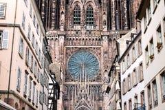 Notre Dame domkyrka i Strasbourg Arkivbilder