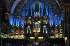 Notre Dame domkyrka Montreal Quebec Royaltyfria Bilder