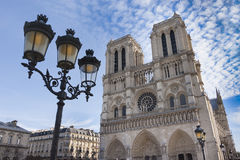 Notre Dame domkyrka - Paris Arkivfoton