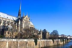 Notre Dame domkyrka, Paris, Frankrike Arkivfoton