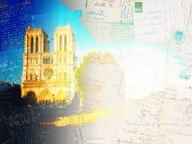 Notre Dame domkyrka, Paris Frankrike royaltyfri illustrationer