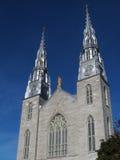 Notre Dame domkyrkaBasilica i Ottawa Royaltyfri Fotografi