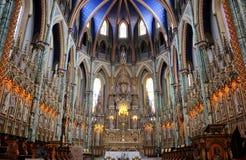 Notre Dame domkyrkaBasilica, Ottawa royaltyfria bilder