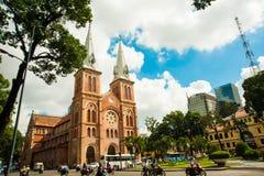 Notre-Dame domkyrkabasilika av Saigon Royaltyfria Foton