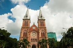 Notre-Dame domkyrkabasilika av Saigon Arkivfoto