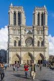 Notre Dame domkyrkakyrka Paris Frankrike Royaltyfri Foto