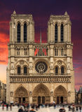 Notre-Dame dramatic sky Stock Image