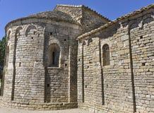 Notre Dame du Colombier, France. Notre Dame du Colombier, romanesque architecture in Aude, France royalty free stock photography