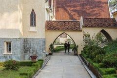 Notre Dame du Langbianor Couvent des Oiseaux学校 免版税图库摄影