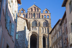 Notre-Dame-du-Puy Cathedral. Buildings and Notre-Dame-du-Puy Cathedral, France Royalty Free Stock Image