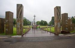 Notre Dame du Rosaire de Lourdes Basilica av vår dam av radbandet det roman - katolsk kyrka i Lourdes, Frankrike Arkivfoton