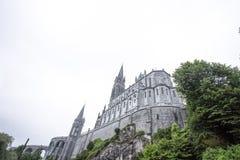 Notre Dame du Rosaire de Lourdes Basilica av vår dam av radbandet det roman - katolsk kyrka i Lourdes, Frankrike Arkivfoto