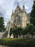 Notre Dame du Sablon Brüssel Stockfotos