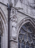 Notre Dame du Sablon De eerste kapel werd gebouwd hier in ea Stock Afbeelding