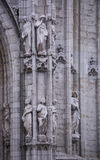 Notre Dame du Sablon De eerste kapel werd gebouwd hier in ea Royalty-vrije Stock Foto's