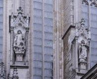 Notre Dame du Sablon De eerste kapel werd gebouwd hier in ea Stock Afbeeldingen